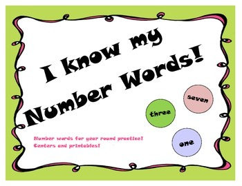 Number words practice games