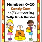 Numbers 0-20 Self-Correcting Candy Corn Tally Mark Puzzles