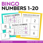 Numbers 1-20 Bingo - featuring Numbers in the Teens