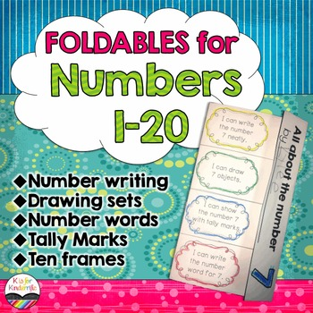 Numbers 1-20 Foldables