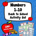 Numbers 1 to 10 - Ten Frame Activity Set - Back to School