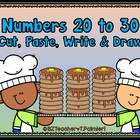 Numbers 20 to 30 count write cut paste