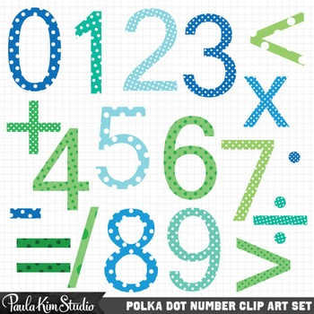 Numbers Clip Art Download - Teacher Classroom Math Teaching Aid