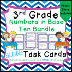 Numbers Task Card Bundle for Third Grade Math Common Core