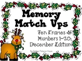Numbers & Ten-Frames: Memory Match Up - December Edition