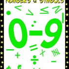 Numbers and Math Symbols Clipart - Going Green