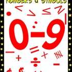 Numbers and Math Symbols Clipart - Schoolhouse Red