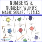 Numbers and Number Words Magic Square