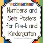 Numbers and Sets Posters for Pre-k and Kindergarten
