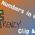 Numbers in a Frenzy Clip Art