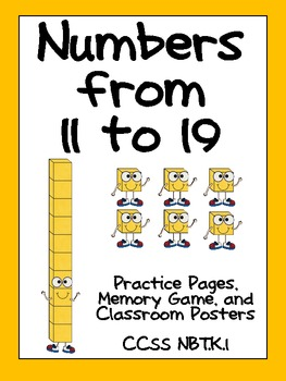 Numbers to 11 to 19- Kindergarten Base Ten- NBT K.1