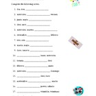 Numeros, Dias, Meses (Numbers, Days, Months in Spanish) worksheet