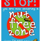 Nut Free / Peanut Free Zone Sign