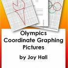 OLYMPICS Four Quadrant Coordinate Graphing Practice Worksheets
