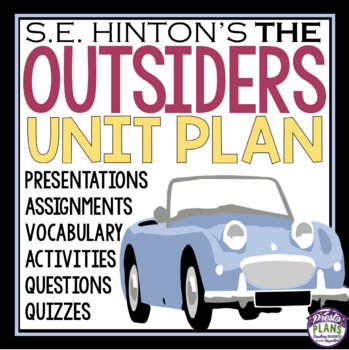 OUTSIDERS UNIT - Assignments, Presentations, Quizzes, Vocabulary & Activities