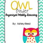 OWL Binder (Organized Weekly Learning)