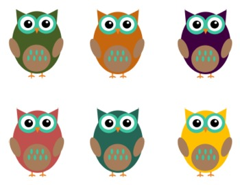 OWL CLIP ART FOR TEACHERS: FALL COLORS