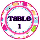 OWLS {Table/Group Circle Labels}