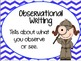 Observational Writing Posters