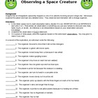 Observing a Space Creature- Scientific Inquiry Skills