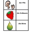 Obst und Gemuse (Fruits and Vegetables in German) concentr