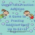 Ocean Addition Fact Practice Games