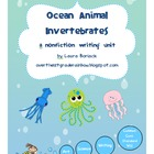 Ocean Animal Invertebrates Common Core Writing Unit