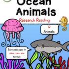 Ocean Animals Research Reading