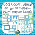 Ocean Colors EDITABLE Banner, Signs, Labels, Binder Covers