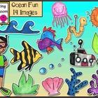 Ocean Fun Clip Art Set