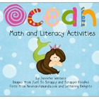 Ocean Math, Literacy and Art Activities