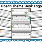 Ocean Theme Desk Tags