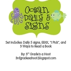 Ocean Theme Literacy Signs