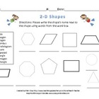 Ocean Themed 2-D and 3-D Shape Quiz