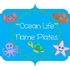 Ocean Themed Name Plates
