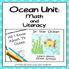 Ocean Unit: Math and Literacy for Kindergarten