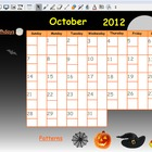 October 2012 Calendar for Smartboard