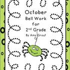 October Bell Work for Second Grade