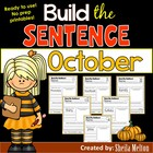 October Build the Sentence (NO PREP printables)