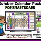 October Calendar and Math Pack for Smartboard