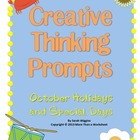 October Creative Thinking Prompts Task Cards (Holidays and