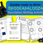 October (Halloween) Descriptive Writing Activity:  Spookap