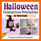 Halloween Interactive Math Worksheets Third Grade Common Core