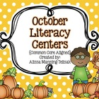 October Literacy Centers {Common Core Aligned for 2nd and