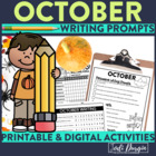 October Mega-Writing Packet {Task Card Prompts, Posters, &