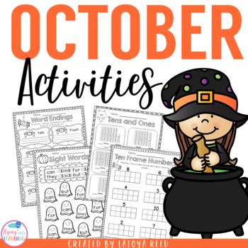 October Printables for Common Core ELA and Math