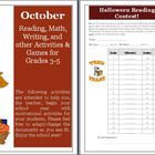 October Reading, Writing, Math, and other Activities and Games