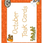 October Task Cards Medium