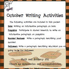 October Writing Activities