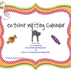 October Writing Calendar